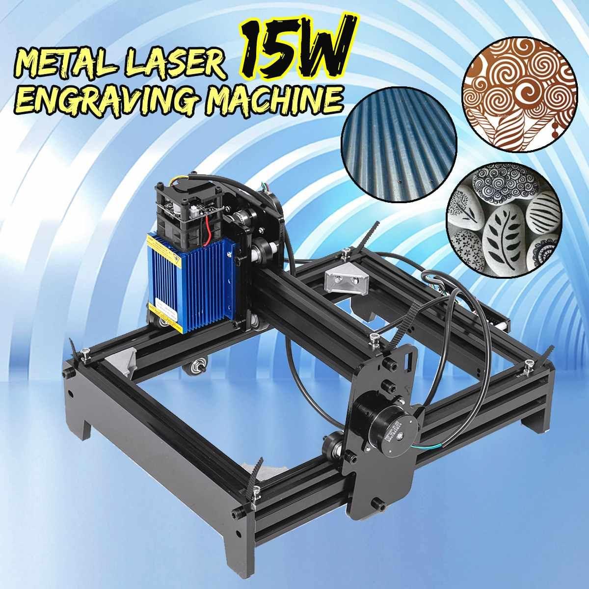 10 W/12 W/15 W 15000 mW Hohe Präzision Laser Gravur Maschine Metall Holz Kennzeichnung Gravur Hause DIY Logo Drucker Cutter Holz Router
