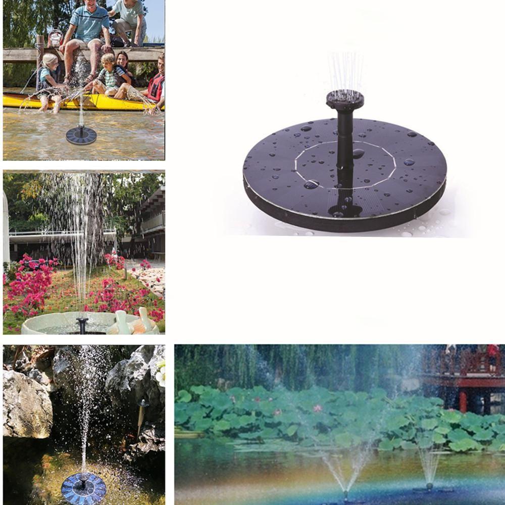 MINI solaire alimenté flottant oiseau bain panneau d'eau fontaine pompe jardin étang piscine