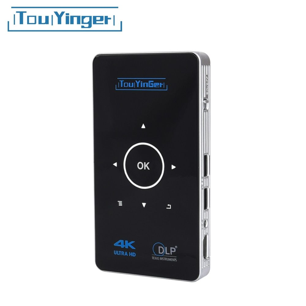 Support 4K 1080P Full HD video dlp Portable projector Airplay 2GB RAM Android 7.1 Touyinger S9 AC3 HDMI wifi Bluetooth Miracast