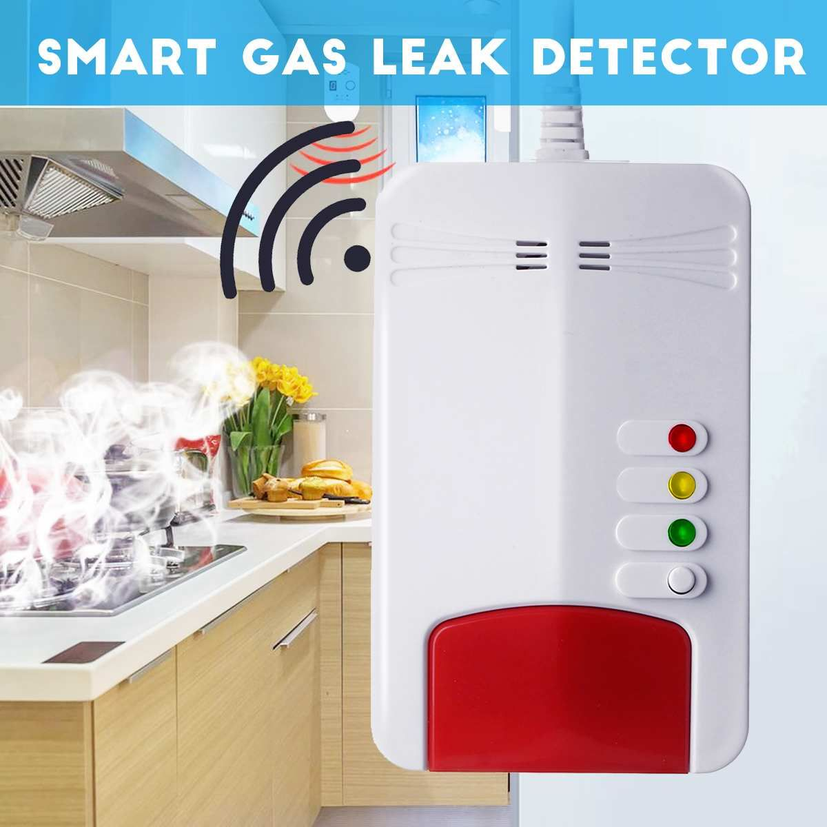 Smart Gas Leck Detektor Natürliche Gas Alarm Sensor Propan Butan Methan Analysator Alarm Warnung Home Security Anzeige Licht