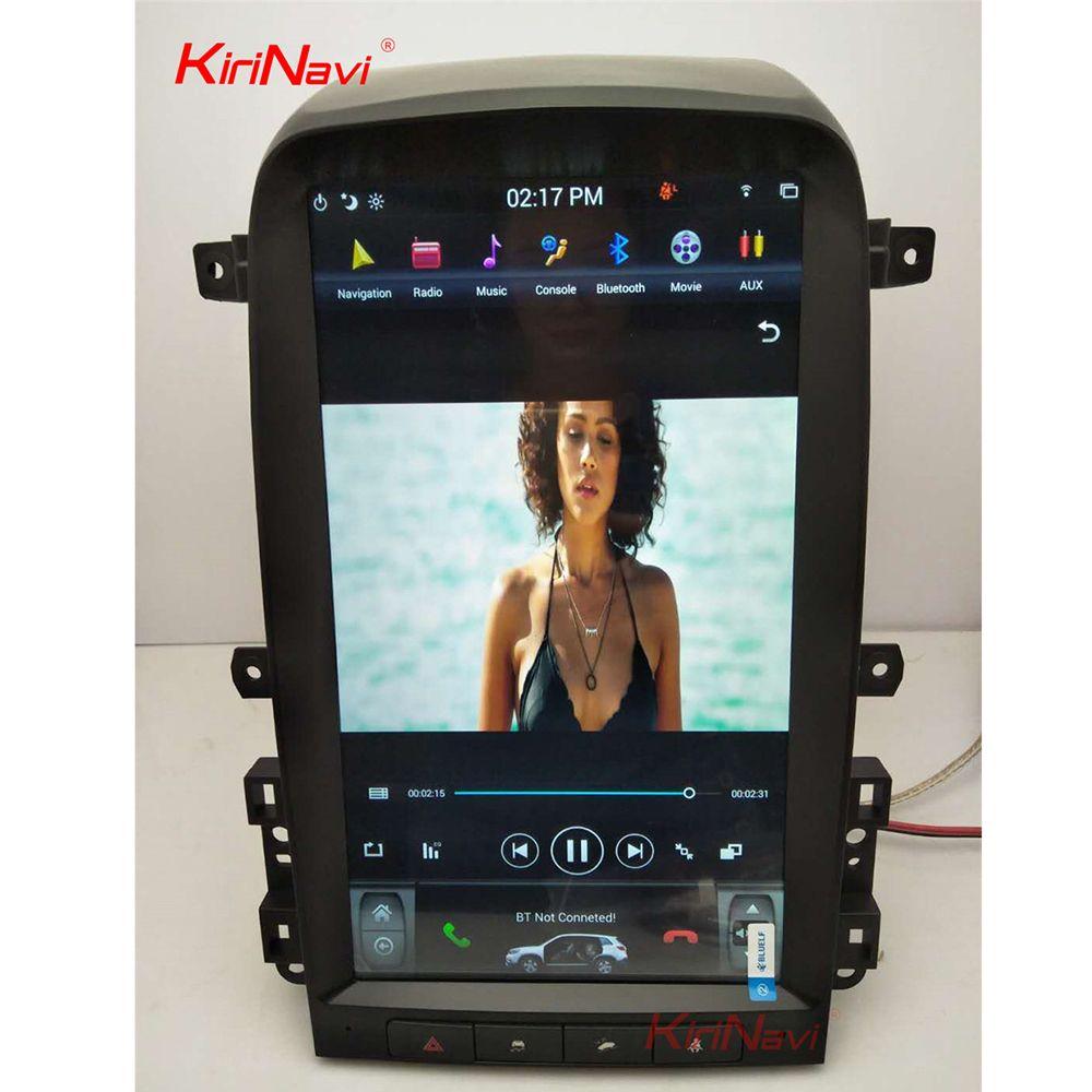 KiriNavi Vertikale Bildschirm Tesla Stil 13,6 Zoll Android 6.0 Auto multimedia GPS Navigation Auto Radio Für Chevrolet Captiva 2008-12