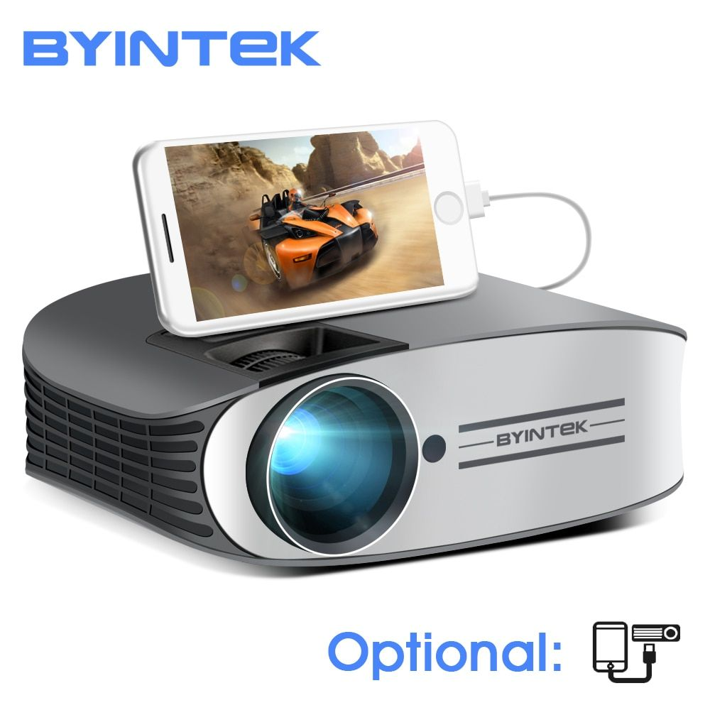 BYINTEK Marke MOND M7 200 zoll Home Theater HD Video lAsEr LED Projektor für Iphone Smart Android Handy Volle HD 1080 P