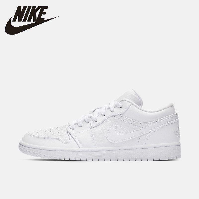 Nike Offizielle AIR JORDAN 1 NIEDRIGEN AJ1 männer Skateboard schuhe Atmungs Nicht-slip Outdoor Turnschuhe #553558
