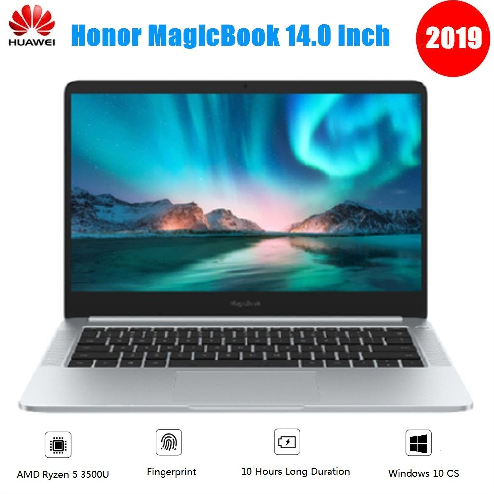 2019 Huawei Honor MagicBook Notebook 14 zoll Windows 10 AMD Ryzen 5 3500U 8 GB 256 GB/512 GB SSD radeon Vega 8 Fingerprint Laptop