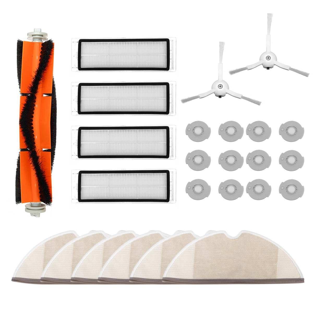 25 pièces Brosse Principale HEPA Filtre Vadrouille Tissu Brosse Latérale pour Xiao mi Roborock mi S50 S51 S55 S5 aspirateur pièces de kit Filtres Core