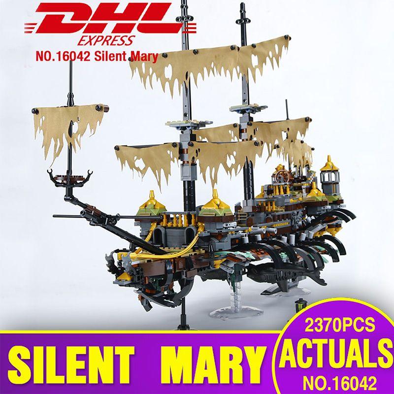 DHL 16042 Pirate Ship Series Building Blocks The Slient Mary Set Children Educational Bricks Toys Model Gift legoing 71042