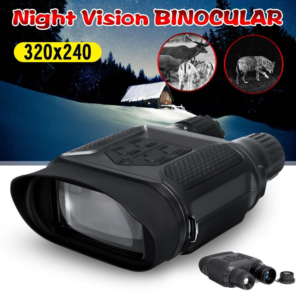 Night Vision Binocular 1300ft/400m High Definition Digital Infrared Night Vision Scope for Hunting Photo Camera Video Recorder