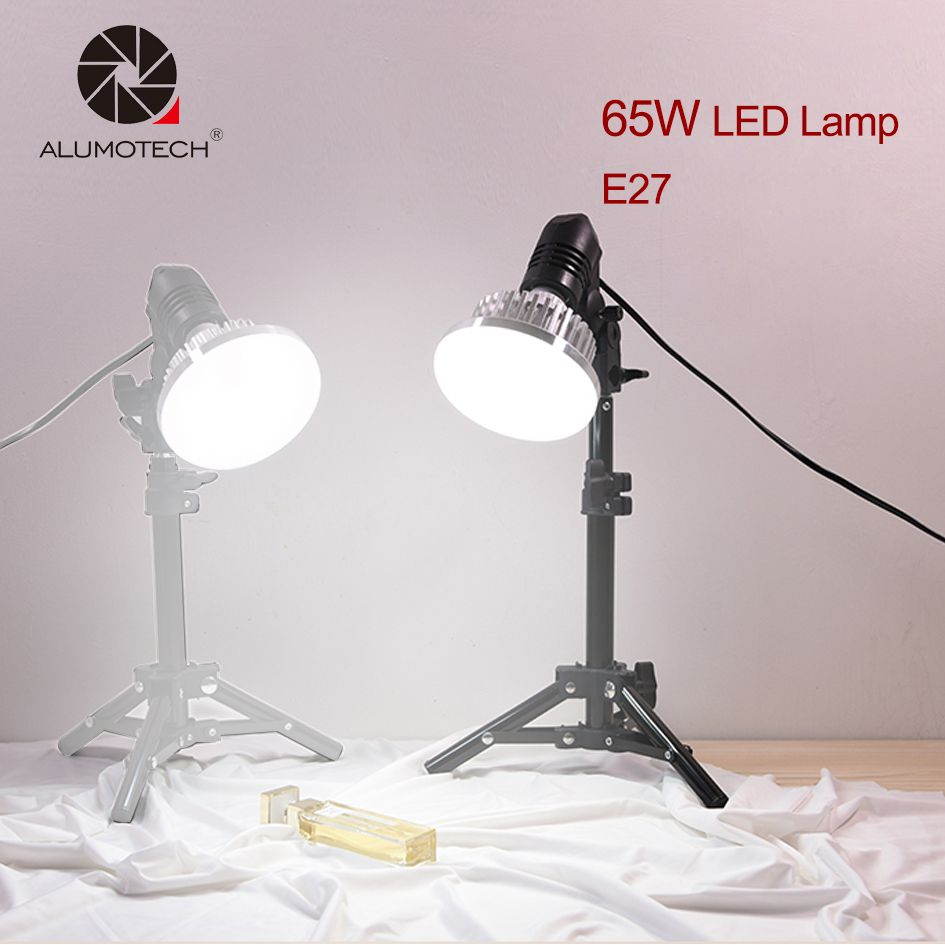 ALUMOTECH Multi-Fuction High Power E27 65W 5500K Daylight LED Bulb Lamp Kit Photography Smartphone House Studio Video Shooting