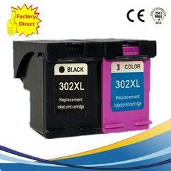 2 x Cartouche D'encre Remanufacturées Pour HP 302 XL 302XL HP302XL HP302 Deskjet 1110 2130 3630 3830 1115 2134 2135 1112 3632 jet d'encre