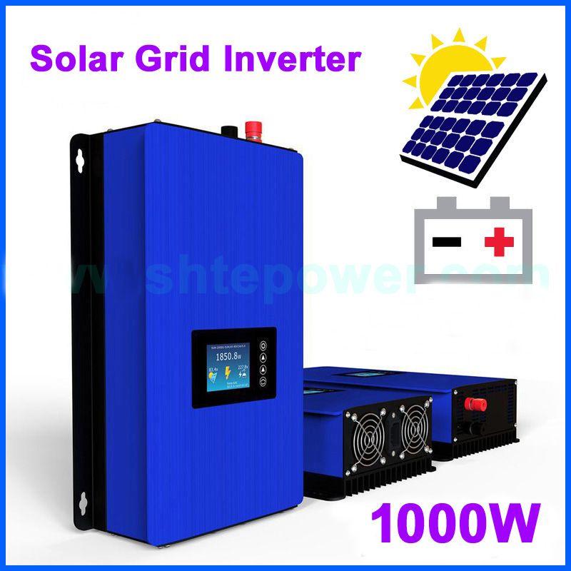 1000 W 2000 W Batterie Puissance De Décharge Mode/MPPT Solaire Grille Inverseur de Cravate avec LCD DC 45-90 V AC 120 V 220 V 230 V PV connecté 1KW 2KW