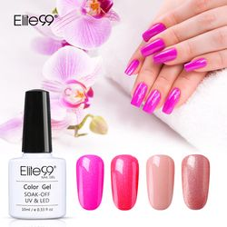 Elite99 Magenta Seri LED UV Rendam Off Gel Lacquer Varnish UV Murni Warna Tahan Lama Kuku Gel Polandia 10 ml Uv Gel untuk Nail Art