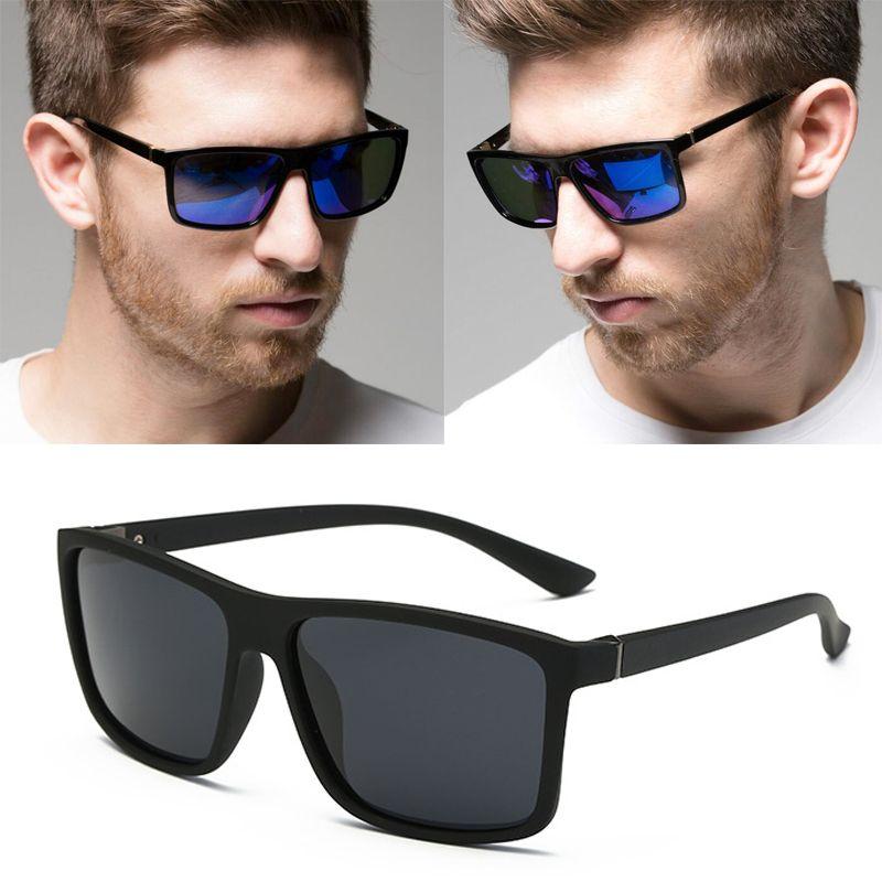 RBUDDY 2019 lunettes de Soleil hommes Polarisé Carrés lunettes de soleil Brand Design UV400 protection Nuances oculos de sol hombre lunettes Pilote