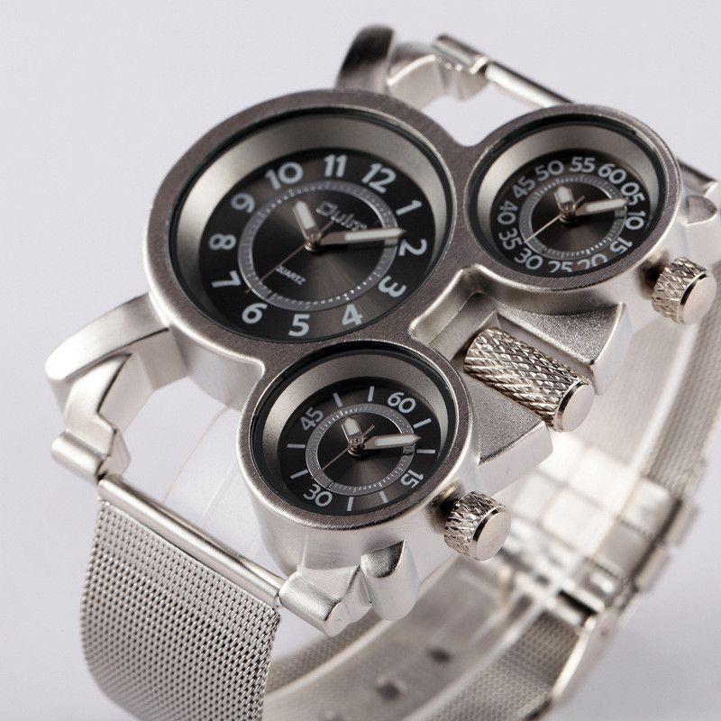 1pc / lot Men Watch OULM 1167 Watch Reloj Hombre Acero Inoxidable Montre Homme de Marque Erkek Saat Relogio Masculino Original