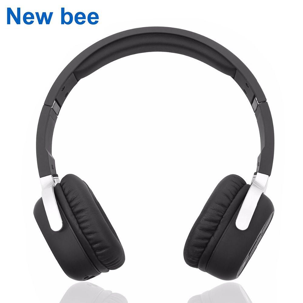 Nouveau Abeille Sans Fil Bluetooth Casque avec Mic NFC Sport Bluetooth Casque avec App Stéréo Écouteur pour Téléphone Ordinateur TV