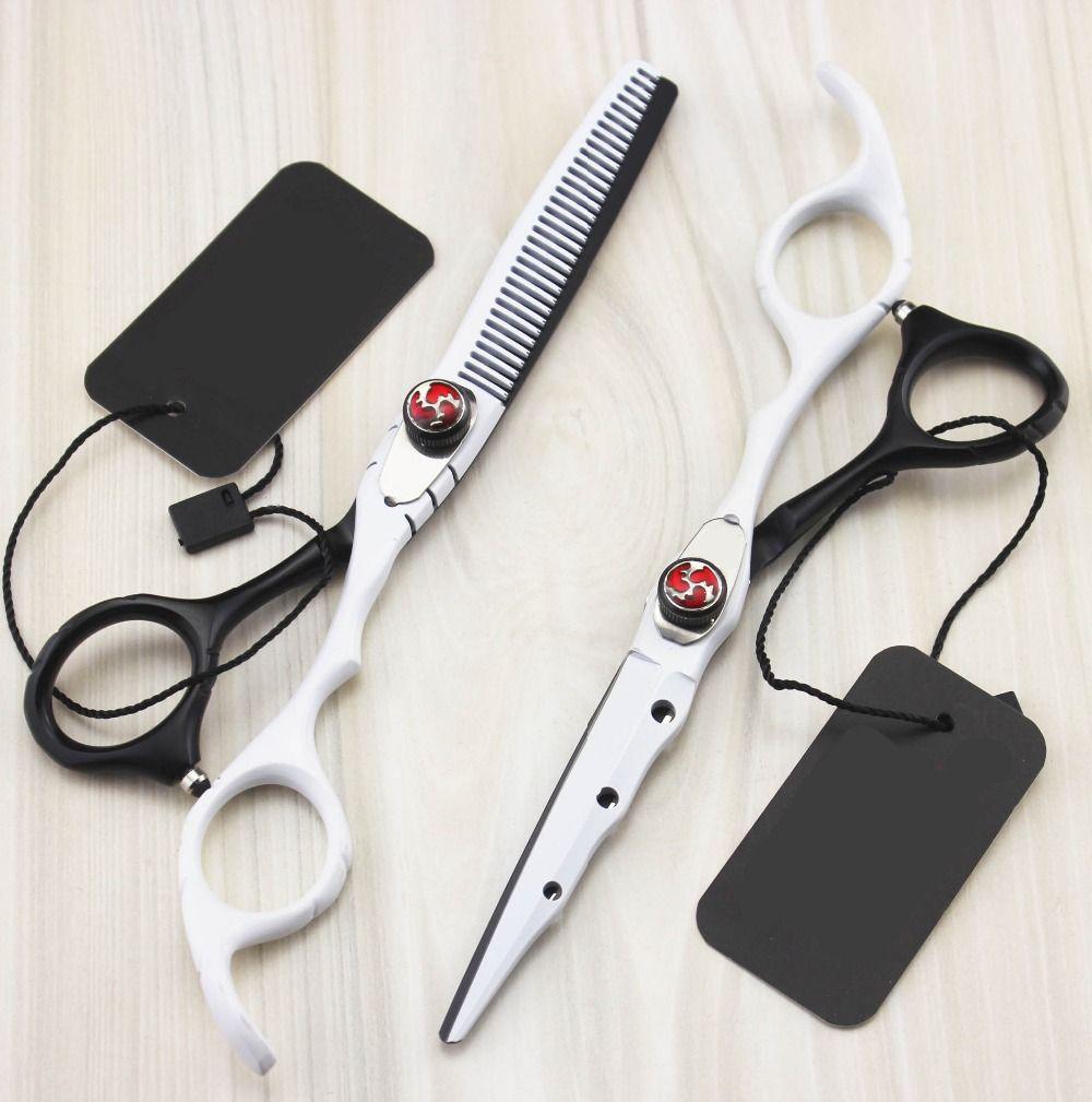 Nouveau professionnel 6.0 pouces nouveau ciseaux à cheveux ensemble ciseaux de coupe ciseaux amincissants ciseaux de coiffure ciseaux scharen outils