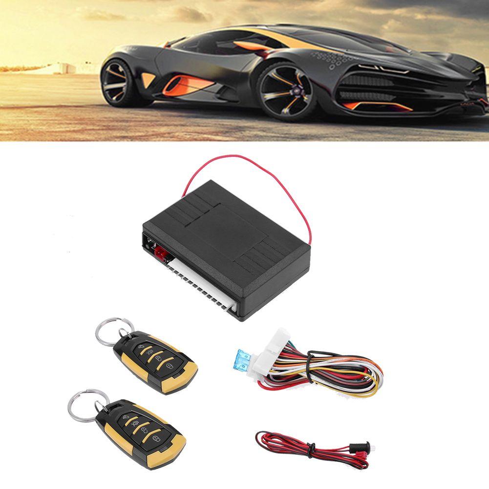 12V Car Auto Remote Central Kit Door Locking Vehicle Keyless Entry System for Universal Car Burglar Alarm High Quality