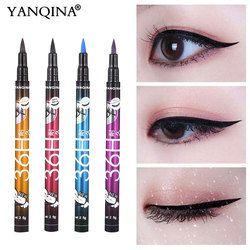 Yanqina 36 H черная водостойкая жидкая подводка для глаз Косметика Стойкая подводка для глаз косметические карандаши для век