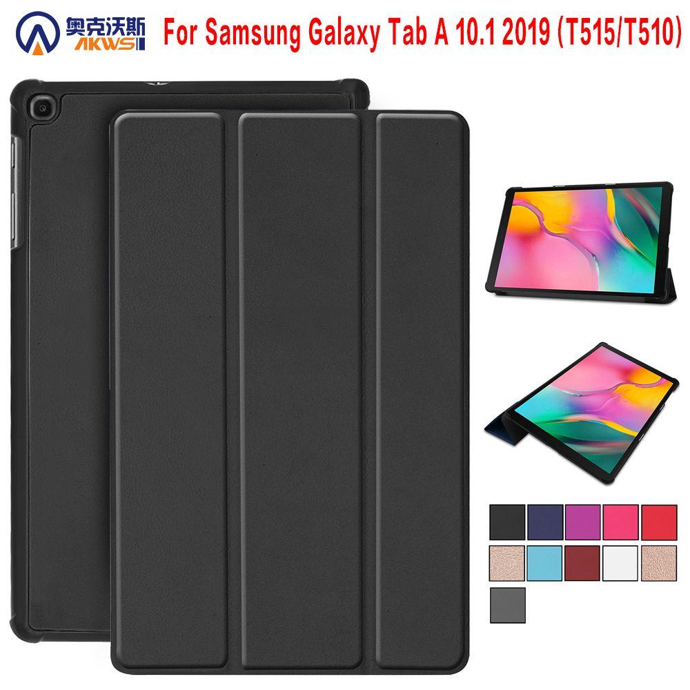 Étui pour samsung Galaxy Tab A 2019 SM-T510 SM-T515 T510 T515 étui pour tablette support pour Tab A 10.1 ''2019 étui pour tablette + cadeau