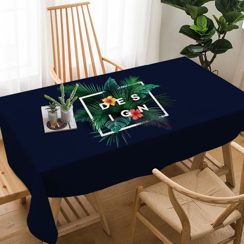 Plant Pattern Tablecloth High Quality Nordic Printing Cotton Linen Home Restaurant Wedding Picnic Party Decoration Table Cloth