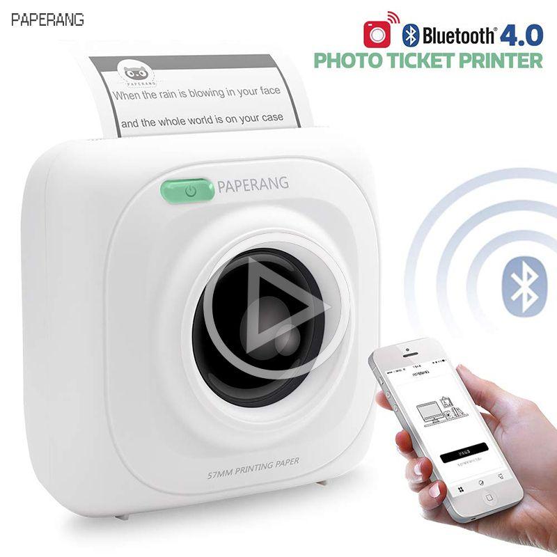 PAPERANG P1 Portable Bluetooth 4.0 imprimante thermique Photo téléphone connexion sans fil Mini imprimantes de poche pour iOS Android Windows