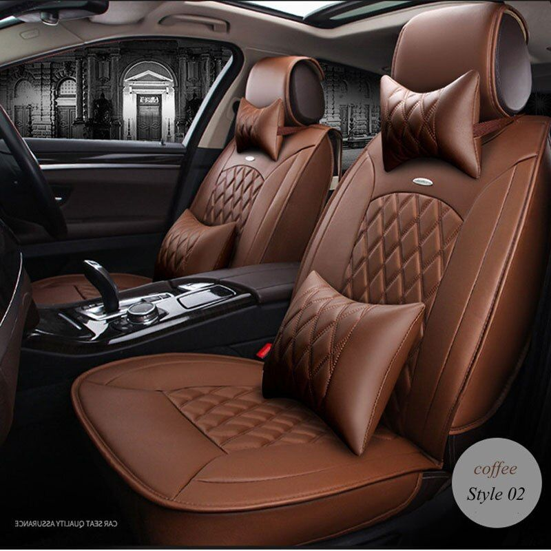 LUNDA PU Leather Universal full Seat Covers set For BMW e30 e34 x3 x5 x6 toyota Interior Accessories Protector Auto Car-Styling