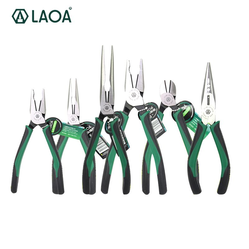 1pcs LAOA CR-MO Combination Pliers Long Nose Plier Fishing Pliers Wire Cutter Stripping American Type Tools For Electrician