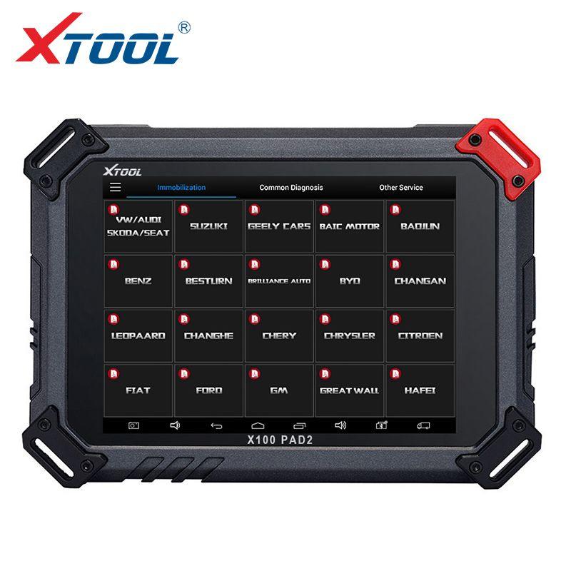 2018 XTOOL X100 PAD2 OBD2 Selbstschlüsselprogrammierer Entfernungsmesserkorrekturwerkzeug Code Reader Auto-diagnosewerkzeug mit Sonderfunktion