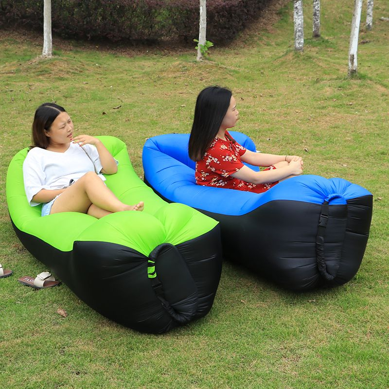 Sleeping bag camping equipment lazy bag inflatable air sofa beach air bed chair hamac gonflable lounger sofa hinchable laybag