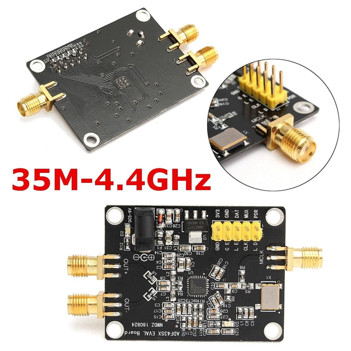 1PC NEW Arrival 35M-4.4GHz PLL RF Signal Source Frequency Synthesizer ADF4351 Development Board
