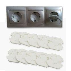 10 unids bebé Seguridad girar cubierta 2 agujero redondo estándar europeo Niños contra eléctrica socket protección seguridad plástico Candados