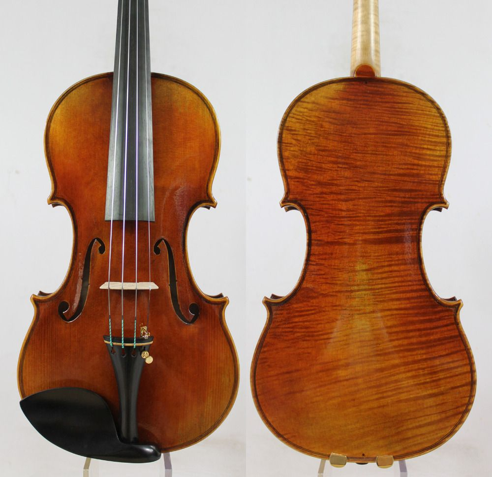 60-y old Spruce!Guarnieri 'del Gesu''Ole Bull' Violin violino Copy! M9018 One Pc Back!Concert 4/4 Violin, Top Oil Varnish