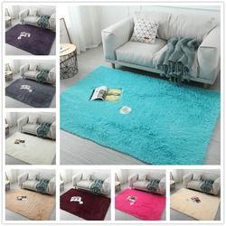 Soft Shaggy Karpet untuk Ruang Tamu Rumah Eropa Hangat Plush Lantai Karpet Berbulu Tikar Kamar Anak Bulu Imitasi Karpet ruang Tamu Tikar