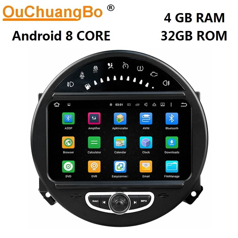 Ouchuangbo Android 8.0 audio player radio for mini Countryman Clubman r56 2006-2013 with GPS navigation 8 core 4GB+32GB