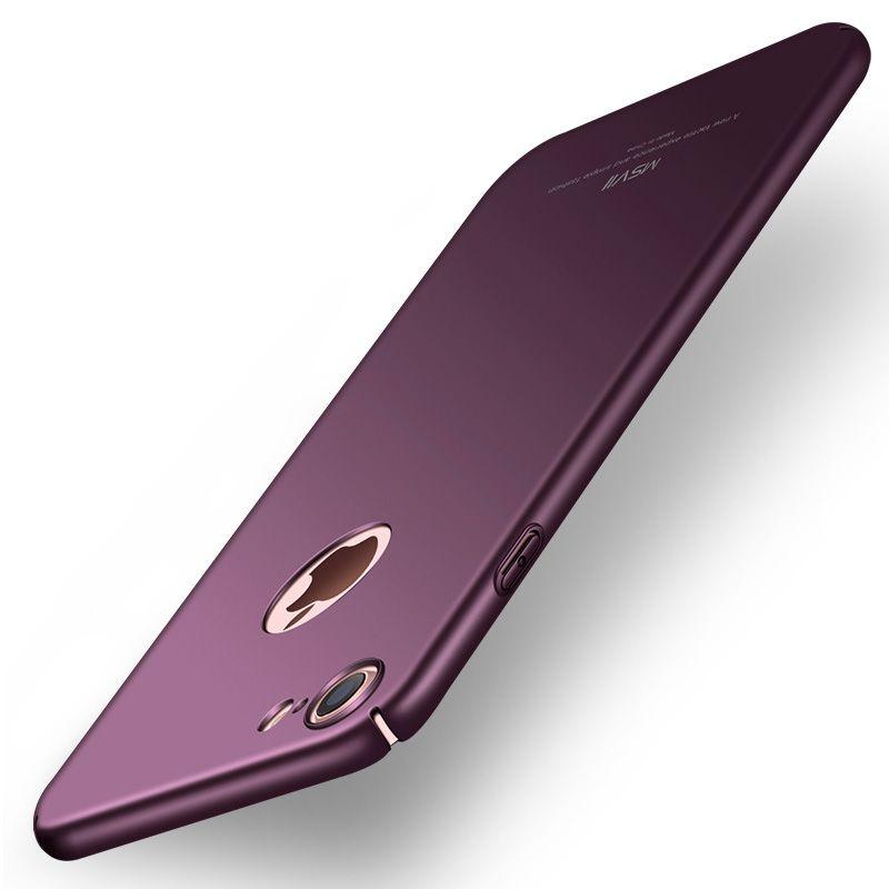 Original MSVII pour iPhone 7 étui pour iPhone 7 Plus couverture de luxe mince mat dur PC couverture arrière pour iPhone 8/8 7plus coques de téléphone