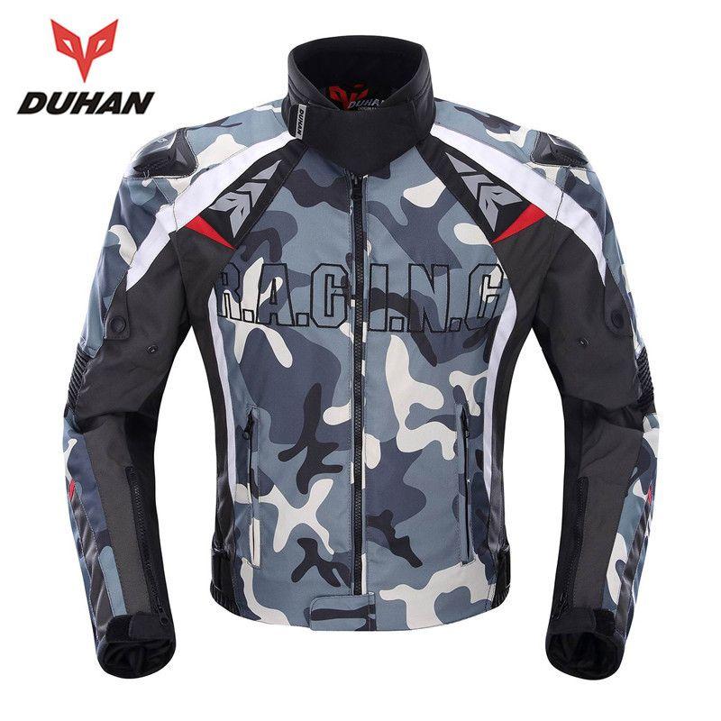 DUHAN Camouflage männer Motorradjacke Oxford Motocross Off-Road Racing Jacke Mit 5 Protektoren Moto Wachen Moto Jacke