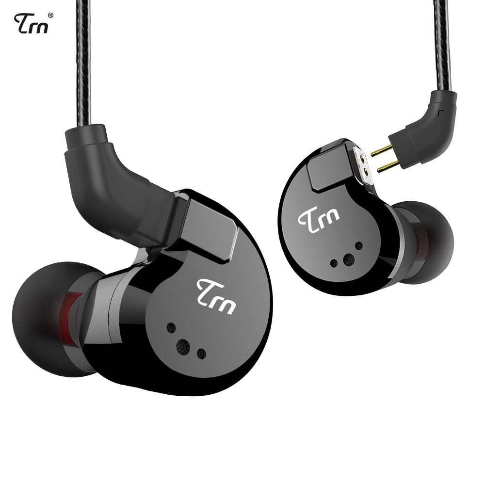 TRN V80 2BA+2DD Hybrid Metal In Ear Earphone IEM HIFI DJ Monito Running Sport Earphone Earplug Headset 2Pin Detachable V20/V60