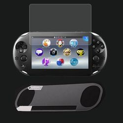 Front Tempered Glass Screen Protector+Back Clear Full Cover Protective Film Guard for Sony PlayStation Psvita PS Vita PSV 2000