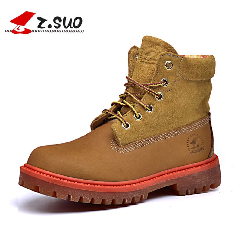 Z. Suo women's boots, fashion lady boots, winter leisure boots woman head layer cowhide, botas mujer botte femme zs1206