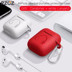PZOZ чехол для наушников Apple Airpods Мягкий силиконовый чехол для наушников Аксессуары для наушников Защитная Беспроводная Крышка bluetooth