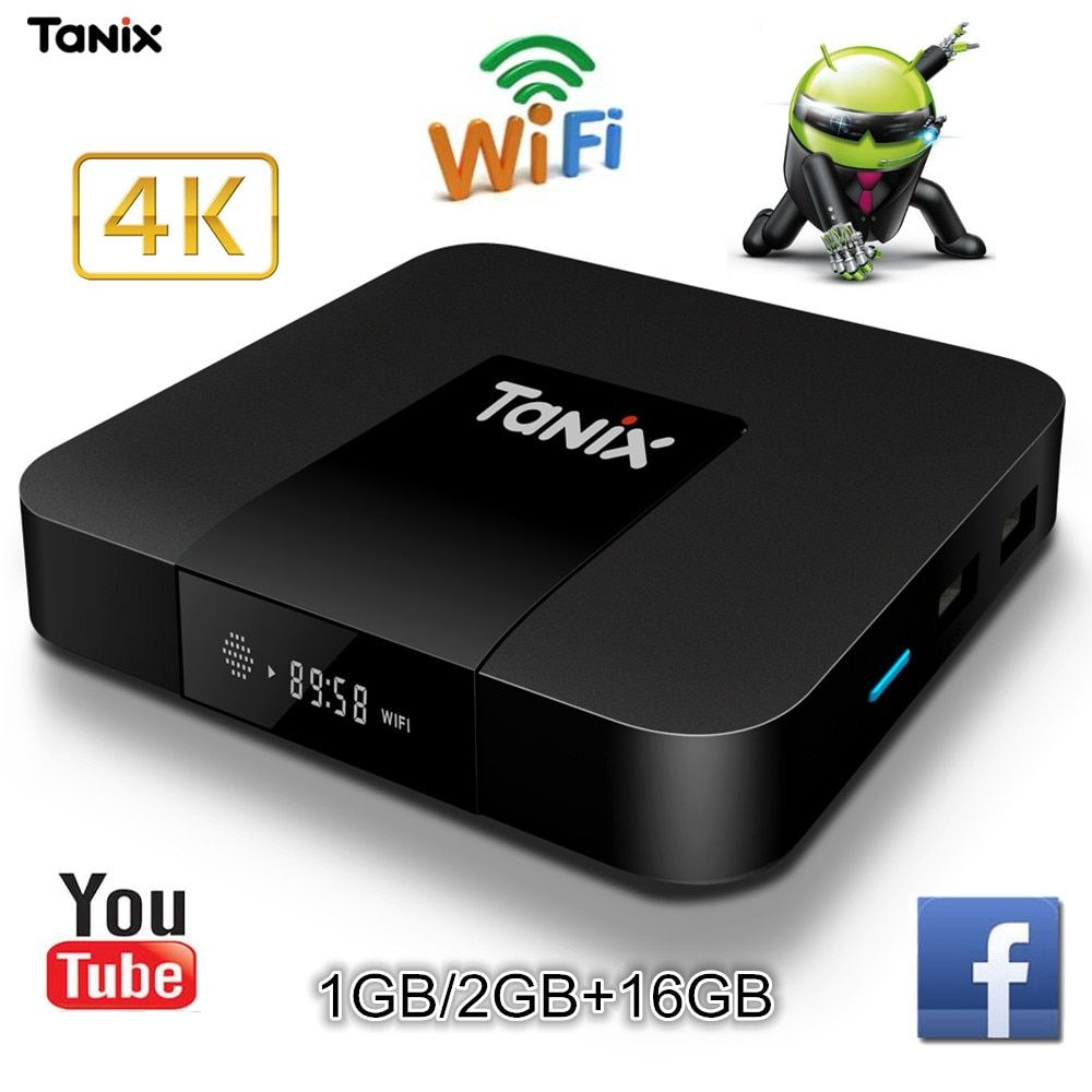 Tanix TX3 Mini TV Box Android 7.1 S905W Quad-core 2G RAM 16GB ROM TV Set Top Box WiFi Support 4K Even 3D HD Movies Media Player