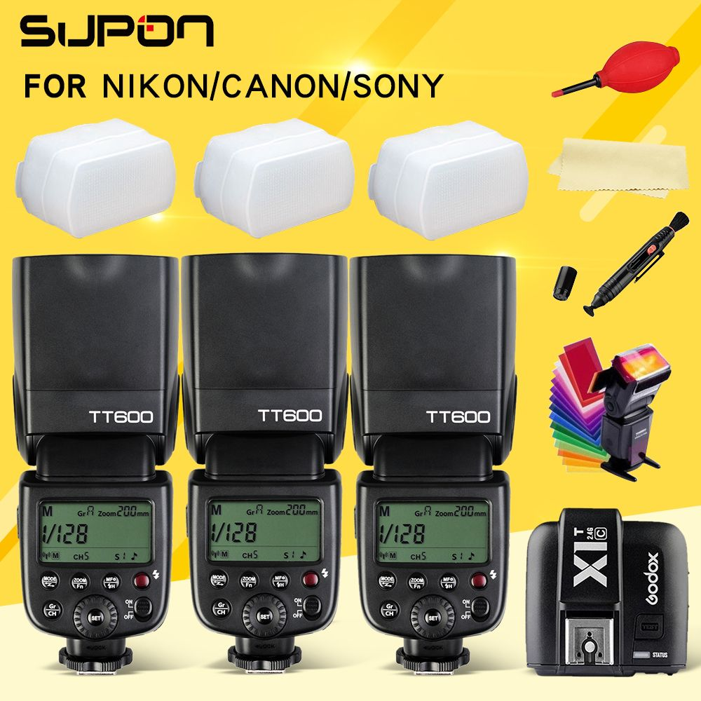 Godox Thinklite TT600 TT600S Camera Flash Speedlite Diffuser + X1T-C/N/S/F/O Transmitter for Canon Nikon Sony Fujifilm Olympus