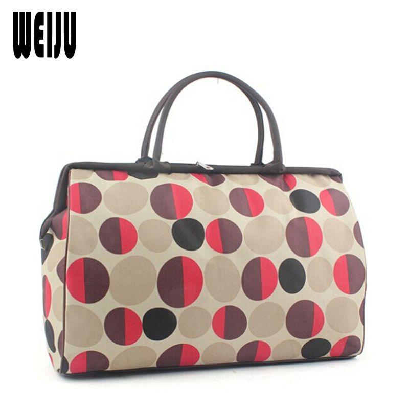 Weiju Для мужчин Дорожные сумки Мода 2017 г. Водонепроницаемый большой Ёмкость Чемодан Duffle Сумки Повседневное сумки Для женщин Дорожная сумка