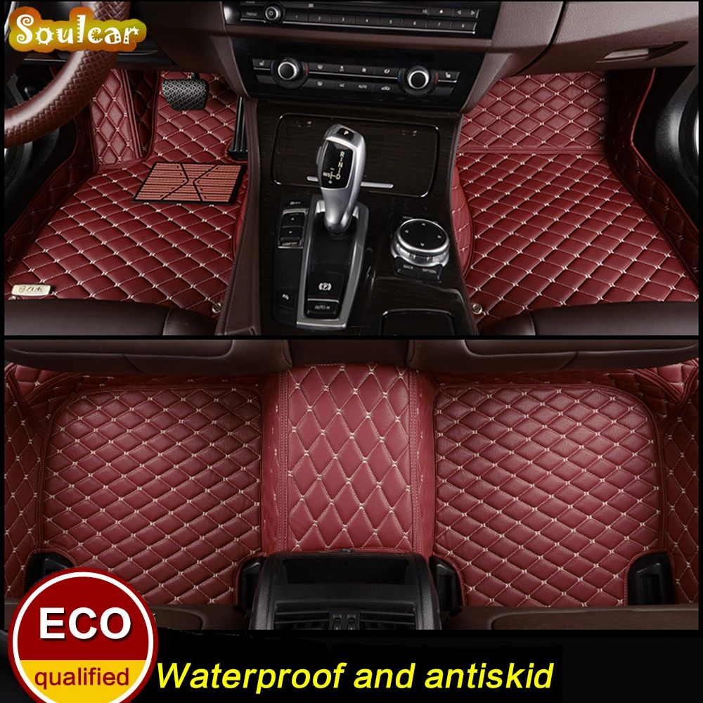 Custom fit Car floor mats for BMW X1 E84 F48 F49 X3 E83 F25 G01 X4 F26 2004-2017 car accessories trunk floor mats carpet