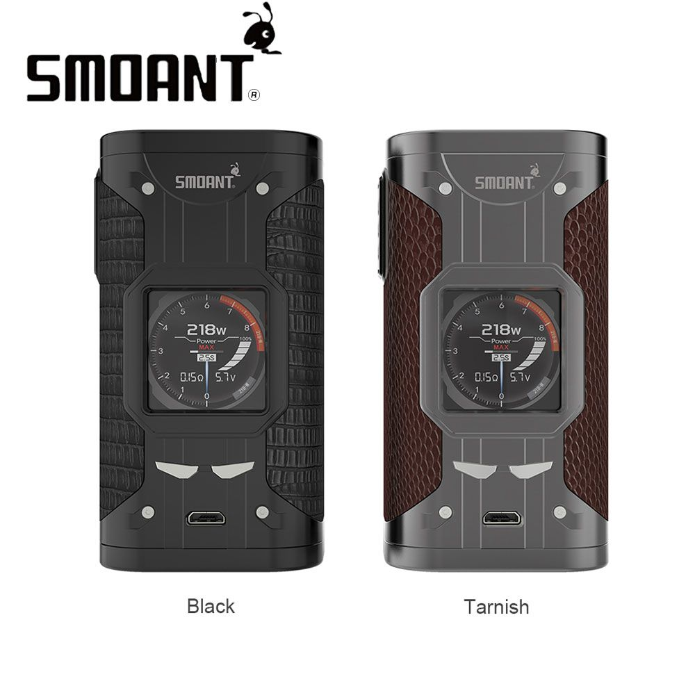 Original Smoant Cylon 218W TC Box MOD with 1.3-inch Colorful Screen 9 Switchable Wall Paper Upgradable Firmware VS Charon Mini