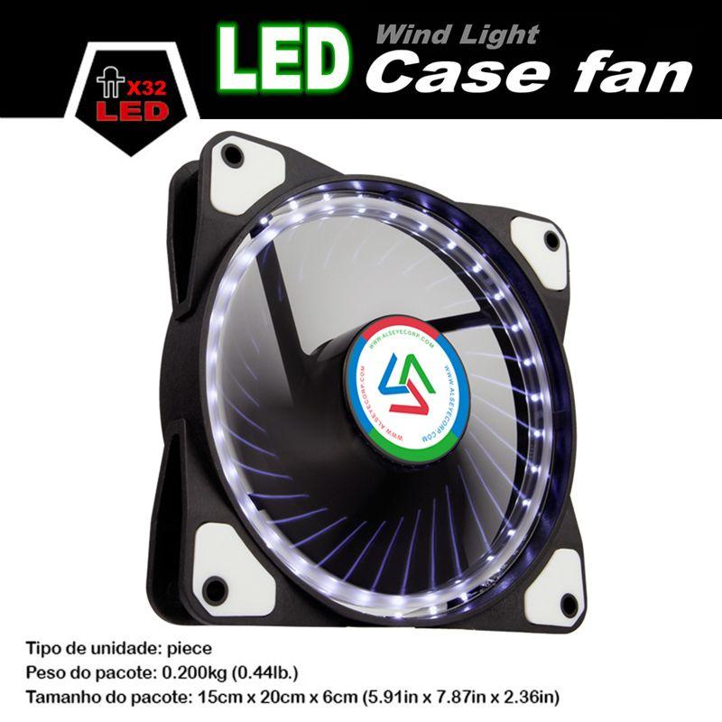 ALSEYE 120mm LED Refroidisseur Ventilateur pour Boîtier De L'ordinateur/CPU ventilateur DC 12 v D4-3pin 1100 RPM 3 Couleur Disponible De Refroidissement Silencieux ventilateur