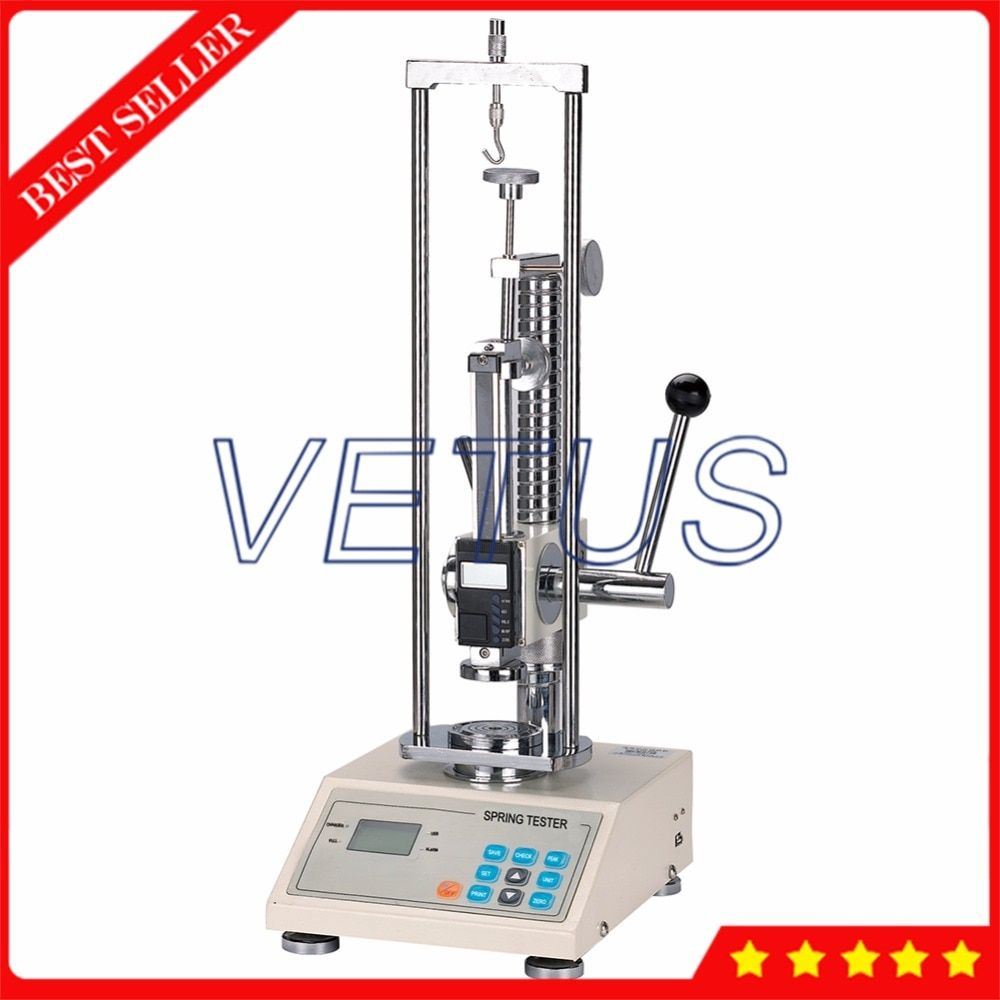 300N/30kg/65Lb Spring Extension Compression Testing Machine Lood Tester Meter Measuring Equipment without Printer ATH-300