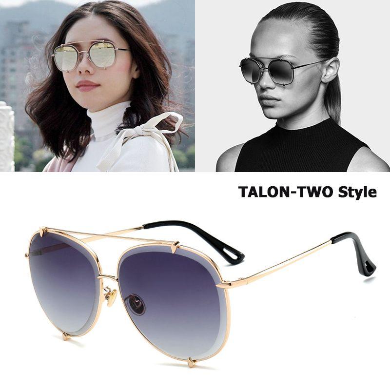 JackJad 2018 New Fashion TALON TWO Style Aviation Sunglasses Women Brand Design Step Down Lens Sun Glasses Oculos De Sol 17034