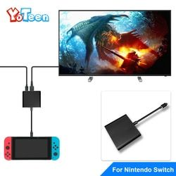 Yoteen Type C Adapter For Nintend Switch Replacement Dock TV HDMI Converter Cable USB 3.0 Port For Accessories