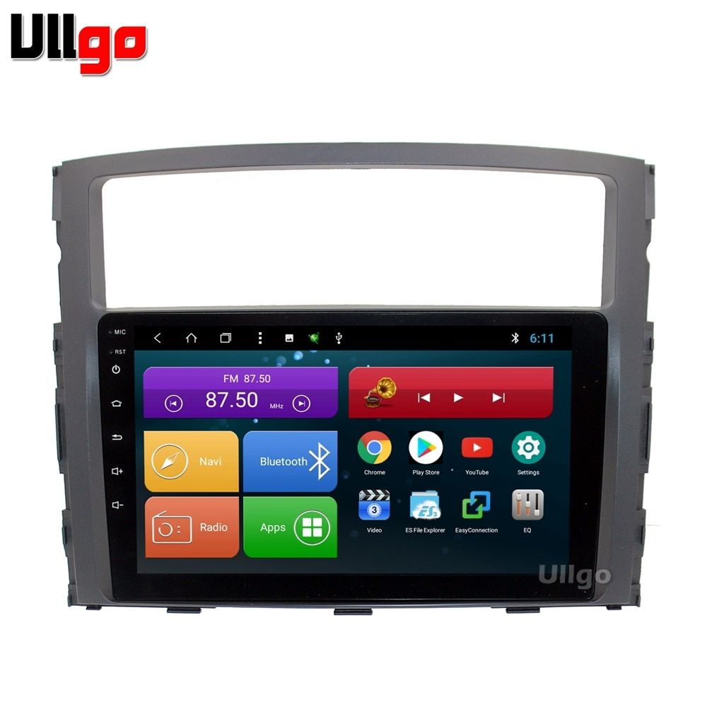 9 inch Android 8.1 Car Head Unit for Mitsubishi Pajero V93 V97 Autoradio GPS Central Multimedia with BT RDS Radio Mirror-link