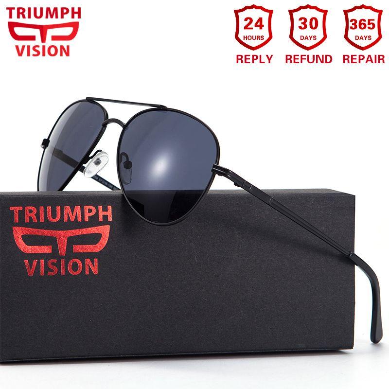 TRIUMPH VISION 2018 Prescription Glasses Men Pilot Optical Glasses Prescription Sunglasses Myopia Oculos Homme Gafas Brillen